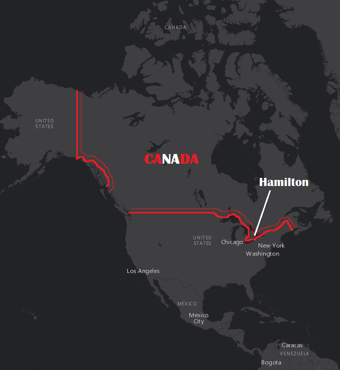 Map Of Canada Hamilton.Hamilton Ontario Canada